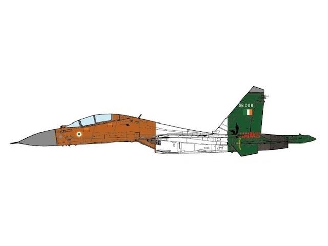 SU-30MKI インド空軍 第24飛行隊 「ハンティングホークス」 特別塗装 共和国記念日 97年1月26日 S9008 1/72 2018年11月3日発売JCWINGS飛行機/模型/完成品 [JCW-72-SU30-005]