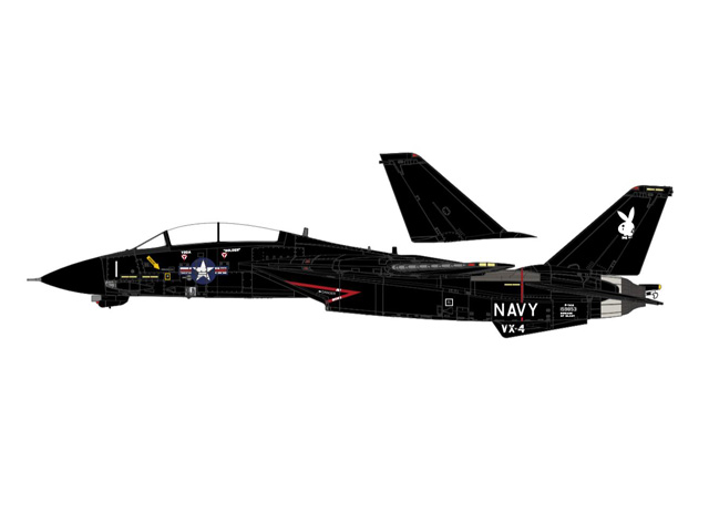 F-14A アメリカ海軍 第4試験評価飛行隊「エバリュエイターズ」 バンディ1 ポイントマグー基地 85年 1/72 2019年11月 Calibre Wings/カリバーウイングス 飛行機/模型/完成品 [CA721408]
