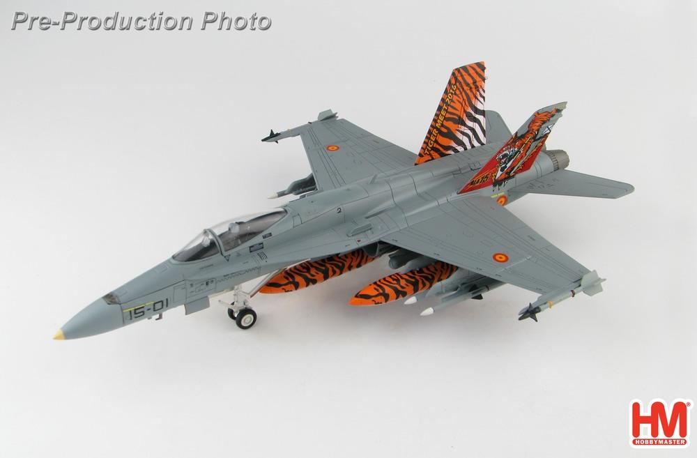 EF-18A(C.15)スペイン空軍 第15飛行隊 特別塗装 「NATOタイガーミーツ2016」サラゴサ基地 #15-01 1/72 2020年3月19日発売 Hobby Master/ホビーマスター飛行機/模型/完成品 [HA3551]
