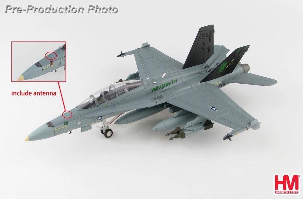 F/A-18D アメリカ海兵隊 第121海兵戦闘攻撃飛行隊(全天候) 「グリーンナイツ」 ミラマー基地 VK01/#164685 1/72 2020年3月19日発売 Hobby Master/ホビーマスター飛行機/模型/完成品 [HA3552]