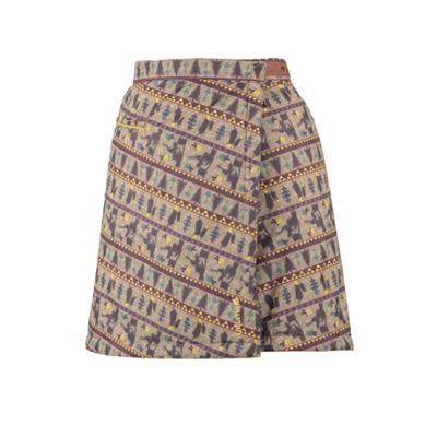 ラフマ LD REVERSIBLE 2 WRAP SKIRT リバーシブル 2 ラップスカート BEIGE GRES Mサイズ LFV01090