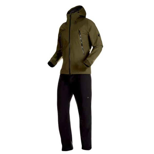 マムート Climate Rain-Suit AF Men ダークオリーブ/ブラック Sサイズ(日本M)1010-26551-4027