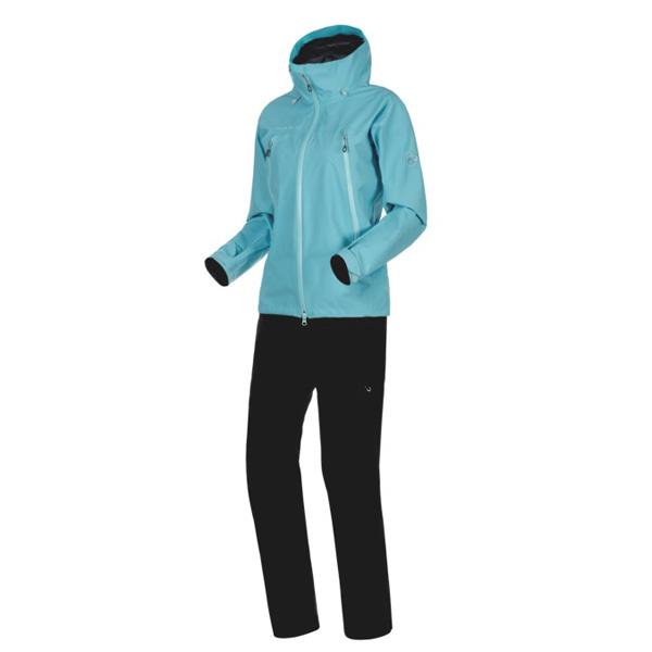 マムート Climate Rain-Suit AF Women ウォーター/ブラック ユーロSサイズ(日本M)1010-26561-50218