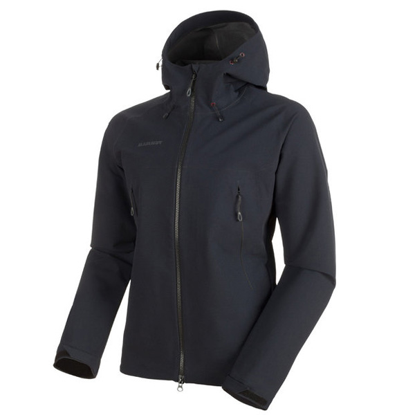 耐水性のあるジャケット マムート Masao SO Jacket Men ブラック ユーロMサイズ(日本L)1011-00460-0001