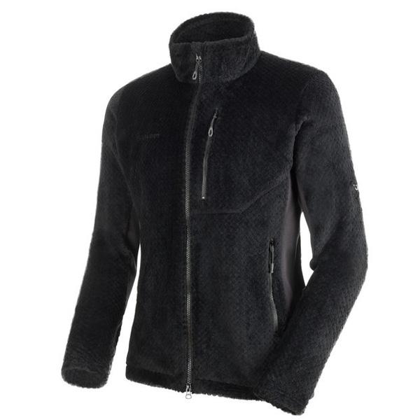 寒い季節も快適なフリースジャケット マムート GOBLIN Advanced ML Jacket Men ブラック/ファントム ユーロMサイズ(日本L)1014-22991-00189