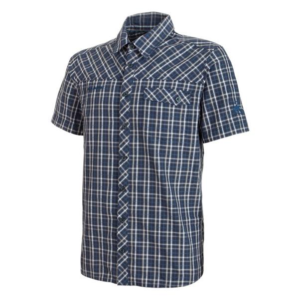 マムート MAMMUT Asko Shirt AF Men マリン/ホワイト ユーロXSサイズ(日本S)1015-00230-5899