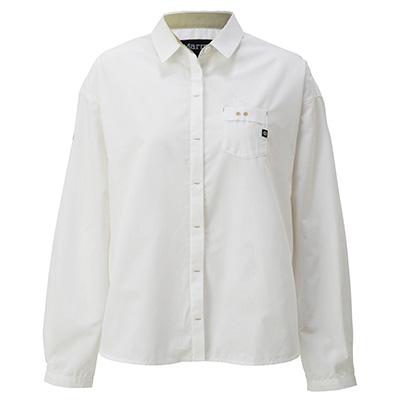 マーモット Marmot ウイメンズルースロングスリーブシャツ ホワイト Mサイズ TOWLJB79YY