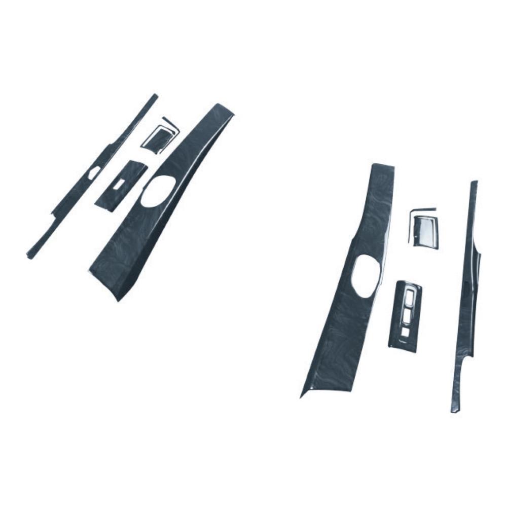 黒木目 インテリア3Dパネル ふそう大型 用 [595426] NEWスーパーグレート(H19.4~H29.4) ドアパネルセット JET