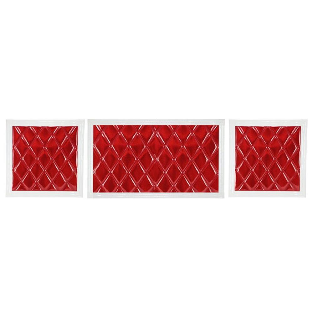 JET ウレタン入り泥除け 綺羅 きら 長たれ3分割 3枚 セット 860×500 600×500 1枚 2枚 白フチ 人気の定番 赤 4t標準車用 5%OFF
