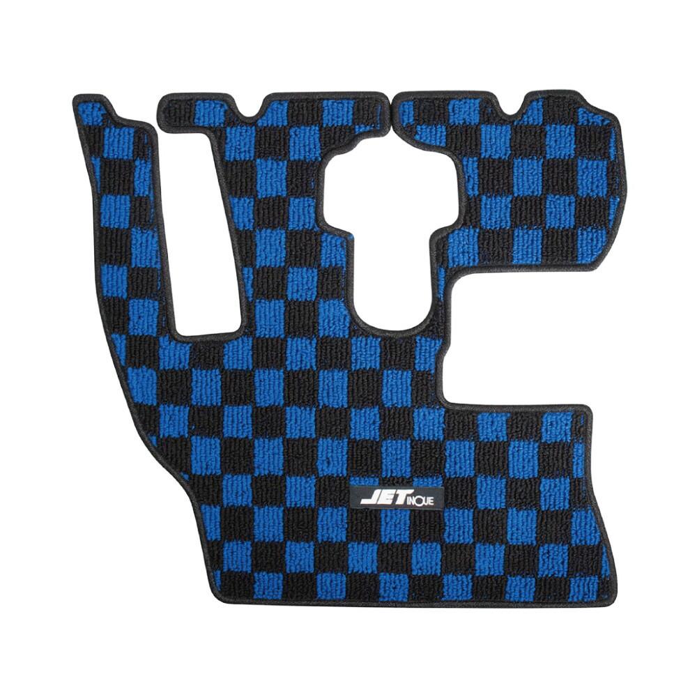 メーカー公式 永遠の定番モデル JET 車種専用フロアマット 運転席用 ブルー 523217 17レンジャーワイド ブラック