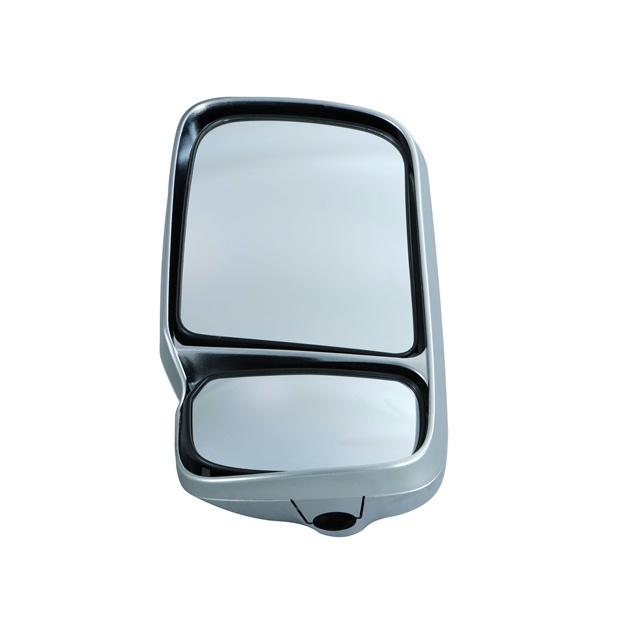 2分割ミラー 在庫あり 発売モデル ヒーターなし用 メッキタイプミラー登場 JET 助手席側 LH 501764 エアループデュトロ専用メッキタイプミラー