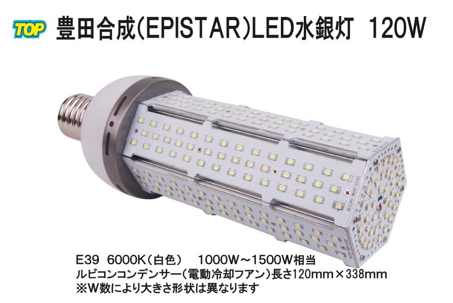 Epistar LED水銀灯(コーン型) 120W E39 13500LM 1000W~1500W相当 品番TK-TCL-120W