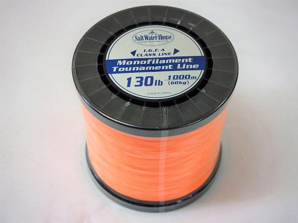 ソルトウォーターハウス I.G.F.A ナイロントーナメントライン130lb 1000m オレンジ