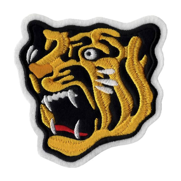 アイロン接着で簡単アレンジ 阪神タイガース 虎ワッペン 小 ギフト プレゼント ご褒美 虎顔 アイロン圧着 刺繍 グッズ 袖 阪神 タイガース 期間限定の激安セール ロゴ 公式 承認