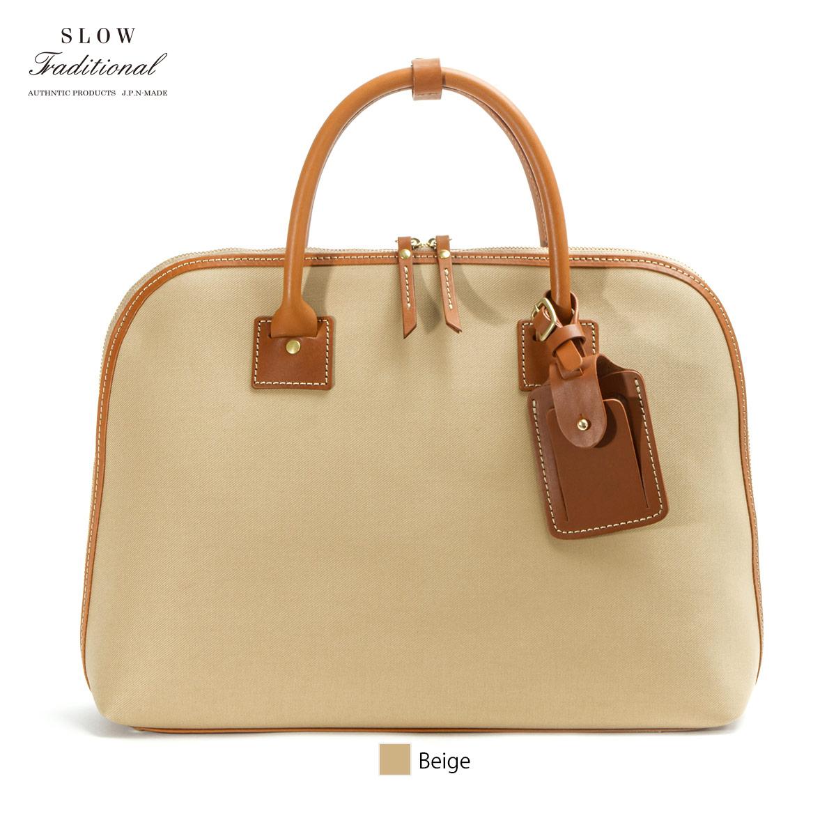 【正規販売店】スロウ トラディショナル ラウンドブリーフケース 2WAY ショルダー ビジネスバッグ Cotton Serge Round Briefcase SLOW TRADITIONAL 306ST01H