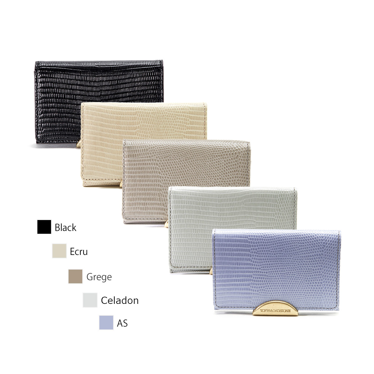 【正規販売店】トフアンドロードストーン デリスリザード名刺入れ カードケース Women's Delice Lizard Business Cardcase TOFF&LOADSTONE TLA-342