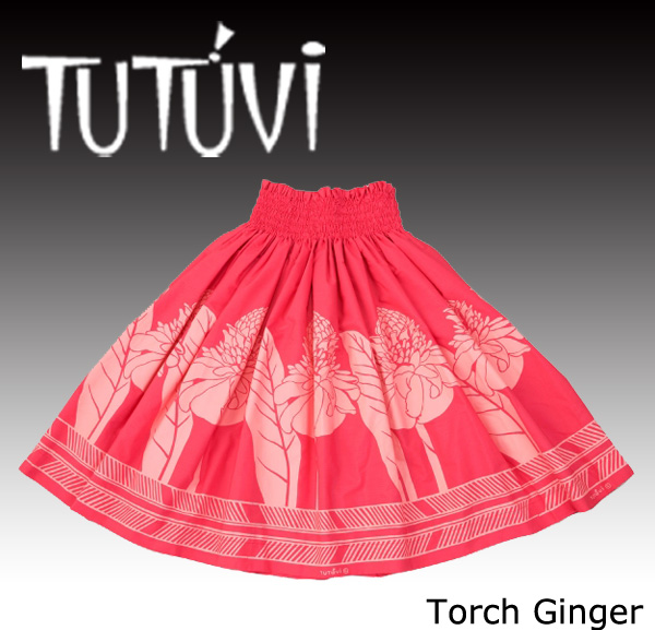 フラダンス衣装 パウスカート スカート フラ パウ オーダー お仕立て PFT-239 TUTUVIパウ トーチジンジャー ウォーターメロン ピンク*丈とゴムの入れ方をお選びください