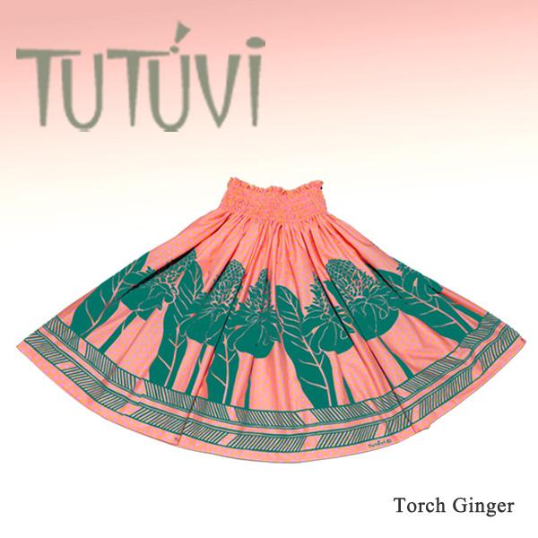 【数量限定】フラダンス衣装 パウスカート スカート フラ パウ TUP-D-P TUTUVIパウ トーチジンジャー ドット ピンク ティール 水玉 *丈とゴムの入れ方をお選びください