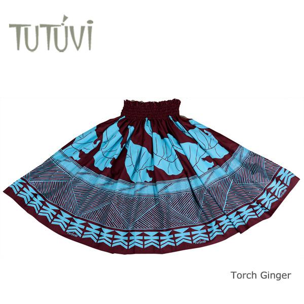 フラダンス衣装 パウスカート スカート フラ パウ PFT-TG-RB TUTUVI パウ タロ チョコレート アクア