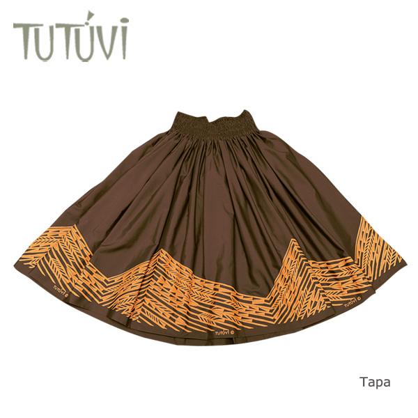 フラダンス衣装 パウスカート スカート フラ パウ TUP-FT-TPBR TUTUVIパウ タパ ブラウン イエロー 茶
