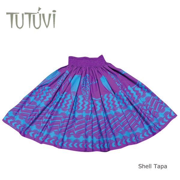 フラダンス パウスカート フラダンス衣装 フラ スカート PFT074 TUTUVI パウ シェルタパ バイオレットパープル・ブルー