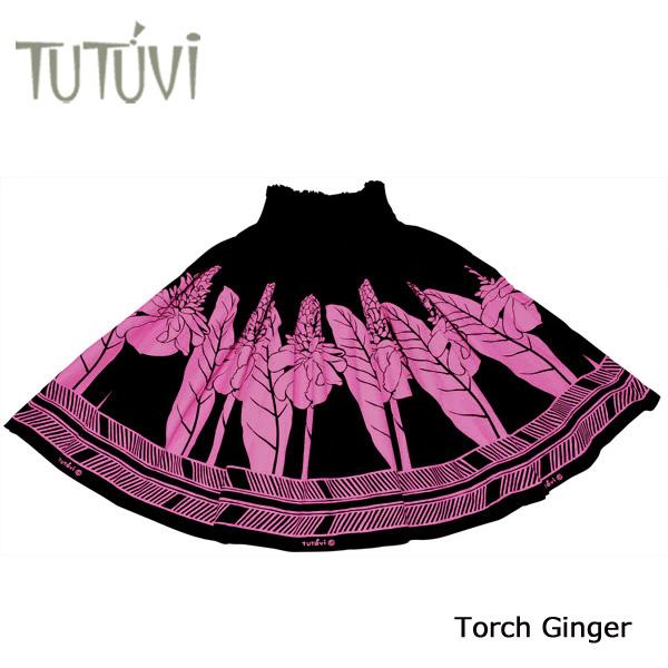 フラダンス衣装 パウスカート スカート フラ パウ オーダー お仕立て PFT128 TUTUVI パウ トーチジンジャー ブラック ピンク 黒 *丈とゴムの入れ方をお選びください