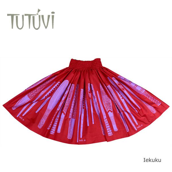 フラダンス衣装 パウスカート スカート フラ パウ オーダー PFT344 TUTUVI パウ イエクク 赤