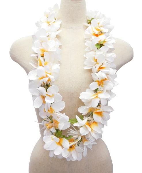 Torch ginger rakuten global market hula supplies hawaii lei w 35 hula supplies hawaii lei w 35 e plumeria lei white yellow mightylinksfo