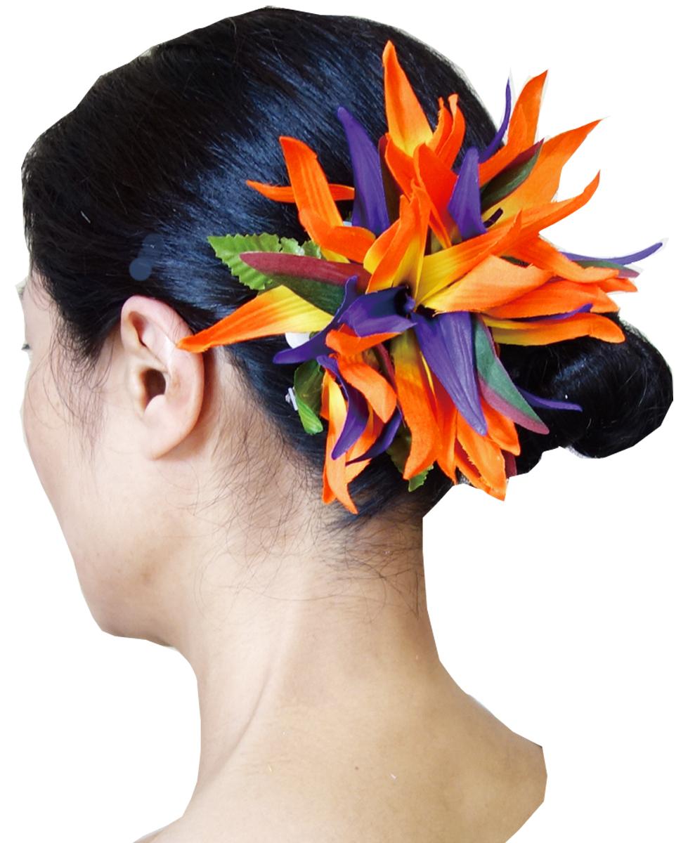 頭髮夾 CL 22 天堂鳥夾夏威夷草裙舞