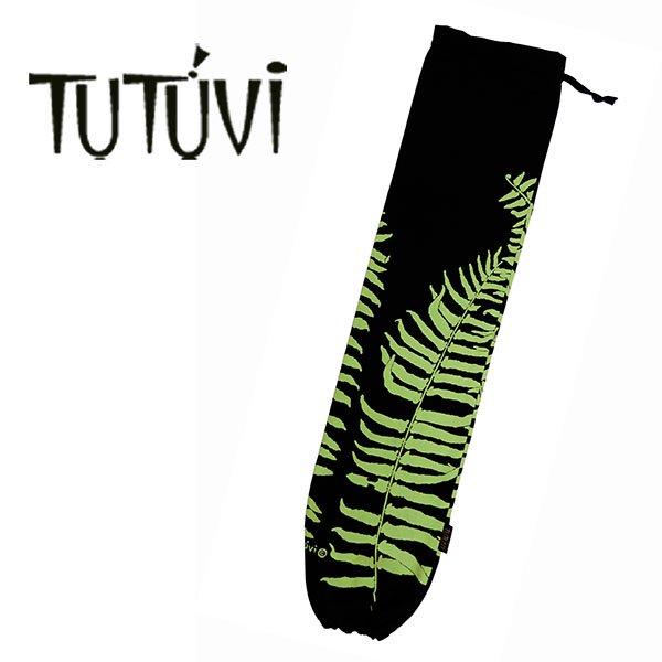 フラダンス衣装 フラダンス  TUTUVI ハワイ デザイナー トーチジンジャー ツツビ プイリケース フラダンス衣装 レッスン フラ TU-PC-8  TUTUVI パウケース ファーン ブラック グリーン