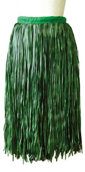フラダンス衣装 フラダンス レイ パウスカート ふらだんす 現品 スカート ティーリーフ アイランドスカート ダブルストリップタイプ GSK-05 ファッション通販