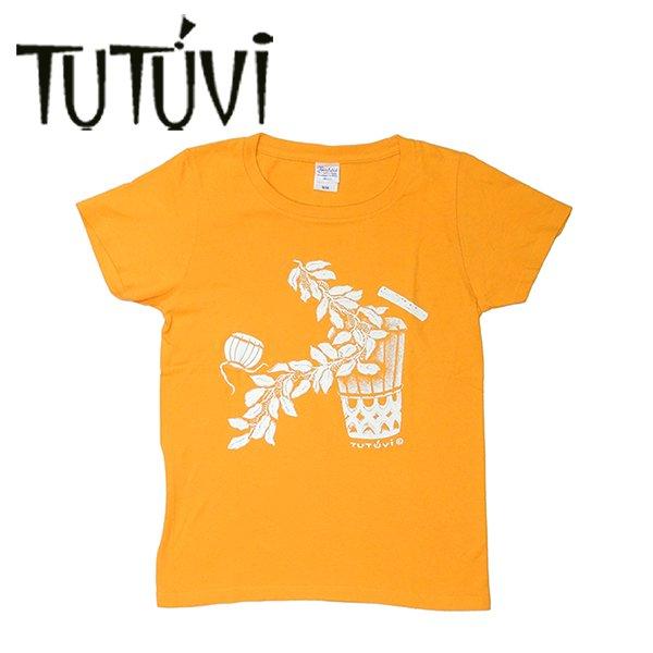 フラダンス衣装 フラダンス Tシャツ ティーシャツ TUTUVI ハワイ デザイナー トーチジンジャー ツツビ 着やすい 伸縮 ストレッチ 半袖 フラダンス衣装 tシャツ レッスン フラ 着やすい 伸縮 半袖 TUT-SVGY TUTUVI Tシャツ サウンドアンドヴィジョン ゴールドイエロー アイボリー