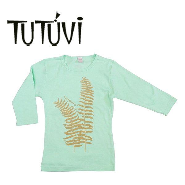 フラダンス衣装 フラダンス Tシャツ ティーシャツ TUTUVI ハワイ デザイナー トーチジンジャー ツツビ 着やすい 伸縮 ストレッチ 七分袖  フラダンス衣装 tシャツ レッスン フラ 着やすい 伸縮 七分袖 TUT-FERN-7-SG TUTUVI 七分袖Tシャツ ファーン シャーベットグリーン ベージュ