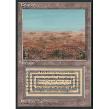 マジックザギャザリング MTG 土地 フランス語版 Scrubland(黒枠)/Scrubland 3ED-286 レア【ランクC】【中古】