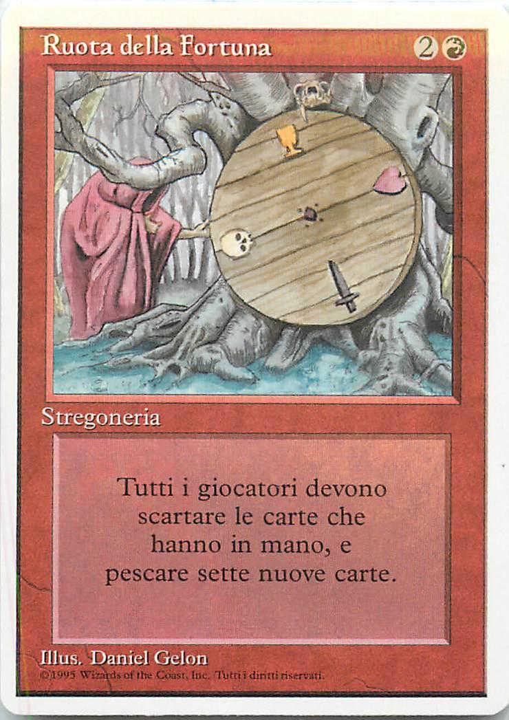 マジックザギャザリング MTG 赤 イタリア語版 Wheel of Fortune 3ED-185 レア【ランクA】【中古】