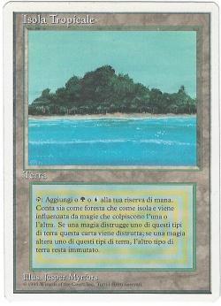 マジックザギャザリング MTG 土地 イタリア語版 Tropical Island 3ED-288 レア【ランクA】【中古】