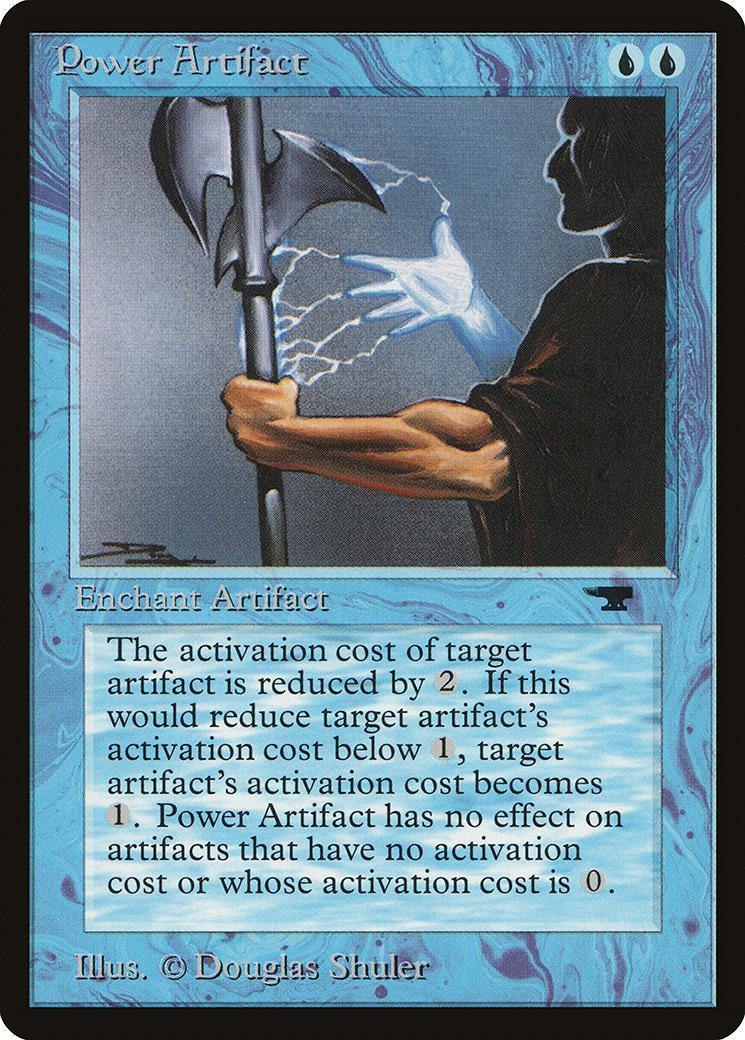 マジックザギャザリング MTG 青 英語版 Power Artifact ATQ-11 アンコモン【ランクA】【中古】