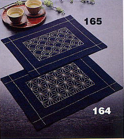 奥林巴斯 sashiko 绣花套件 (如图) 164 / 165 (如上图所示) 放置垫