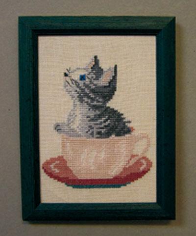 限定タイムセール OOE クロスステッチ刺繍キット 21318 猫柄 取り寄せ 納期40~80日程度 気質アップ デンマークの刺しゅうメーカー オーレンシュレーガー Eftf. Oehlenschlägers 製ししゅうキット Oehlenschlager ネコ Cat O.