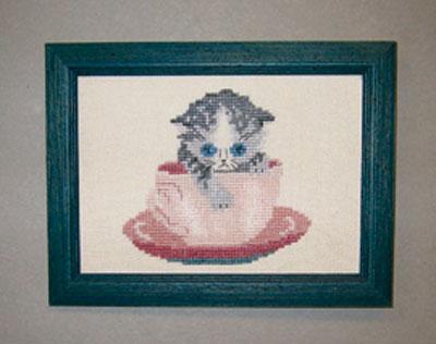 OOE ※ラッピング ※ クロスステッチ刺繍キット 21317 猫柄 取り寄せ 納期40~80日程度 デンマークの刺しゅうメーカー オーレンシュレーガー O. Oehlenschlägers 製ししゅうキット ネコ 割引 Oehlenschlager Eftf. Cat
