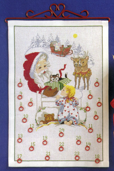 OOE クロスステッチ刺繍キット 66200 クリスマス アドベントカレンダー デンマークの刺しゅうメーカー「オーレンシュレーガー(O. Oehlenschlägers Eftf. / Oehlenschlager)」製ししゅうキット Christmas X'mas Santa Claus Advent Calendar