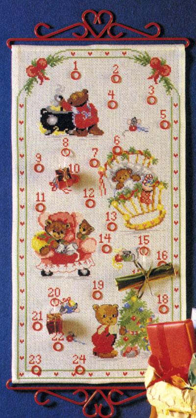OOE クロスステッチ刺繍キット 66226 クリスマス アドベントカレンダー デンマークの刺しゅうメーカー「オーレンシュレーガー(O. Oehlenschlägers Eftf. / Oehlenschlager)」製ししゅうキット Christmas X'mas Santa Claus Advent Calendar