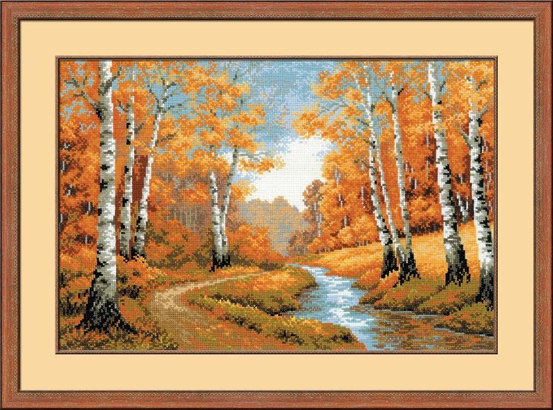 RIOLISクロスステッチ刺繍キット No.1155 「The Golden Grove」 (紅葉) 【海外取り寄せ/納期30~60日程度】