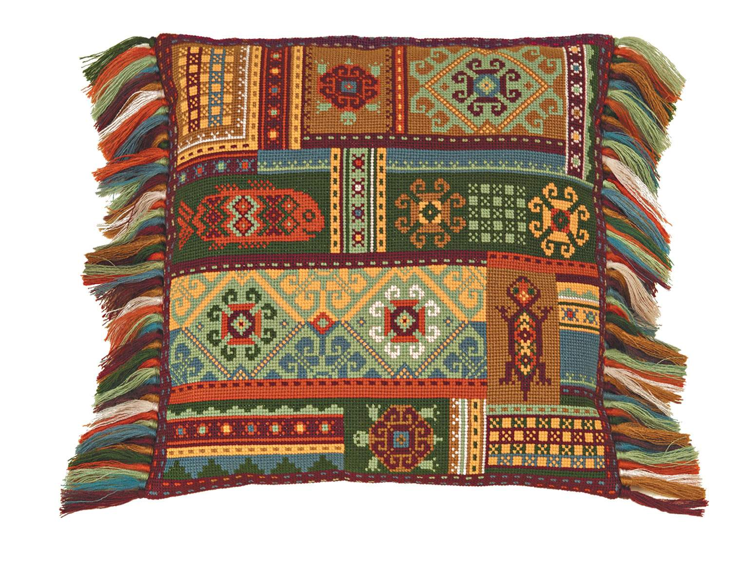 RIOLISクロスステッチ刺繍キット No.1483「Terra Cushion」 (テラ クッション 40cm角) 【海外取り寄せ/納期30~60日程度】