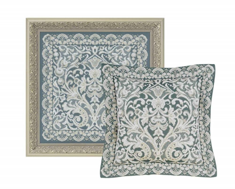 RIOLISクロスステッチ刺繍キット No.1600 「Cushion / Pannel Viennese Lace」 (ウィーン風レース クッション40cm角/パネル) 【海外取り寄せ/納期30~60日程度】