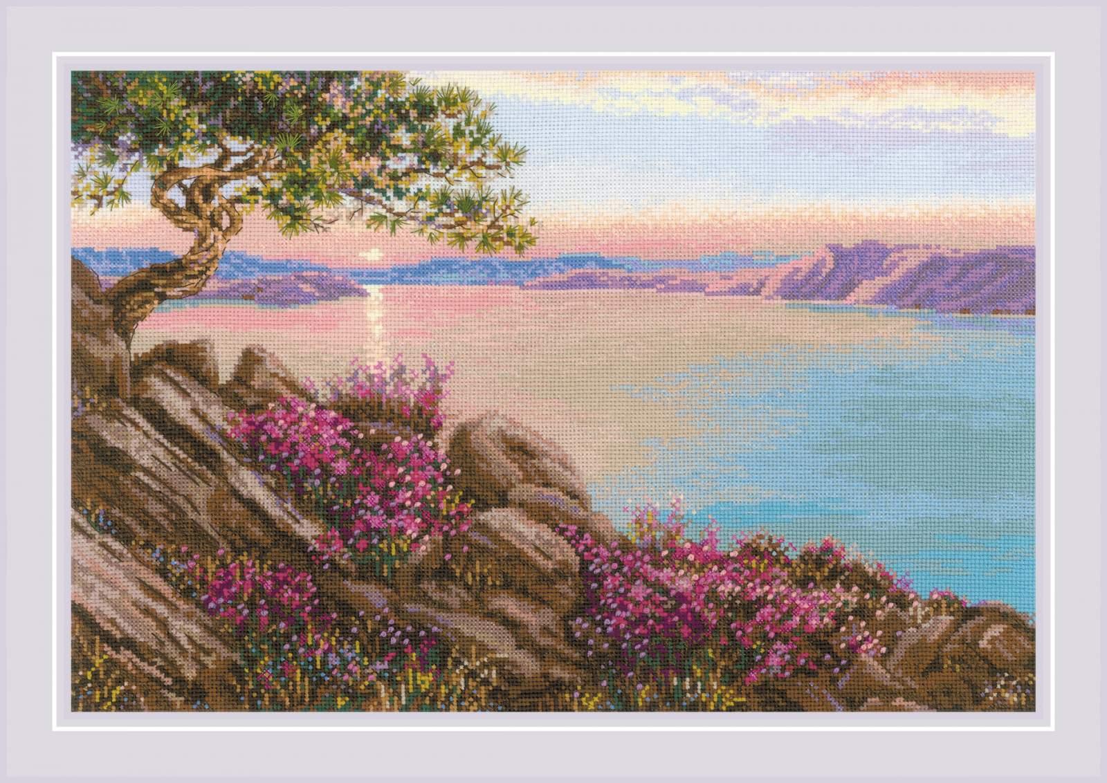 RIOLISクロスステッチ刺繍キット No.1706 「Lake Baikal」 (バイカル湖) 【海外取り寄せ/納期30~60日程度】