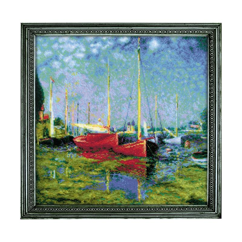 RIOLISクロスステッチ刺繍キット No.1779 「Argenteuil」 after Monet's Painting (クロード・モネ アルジャントゥイユ) 【海外取り寄せ/納期30~60日程度】