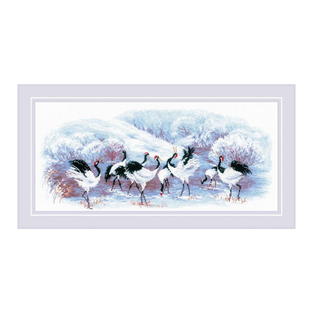 ロシアの刺しゅうメーカー 推奨 リオリス 製ししゅうキット RIOLISクロスステッチ刺繍キット No.1806 Japanese 納期30~60日程度 Cranes 日本の鶴 海外取り寄せ 18%OFF