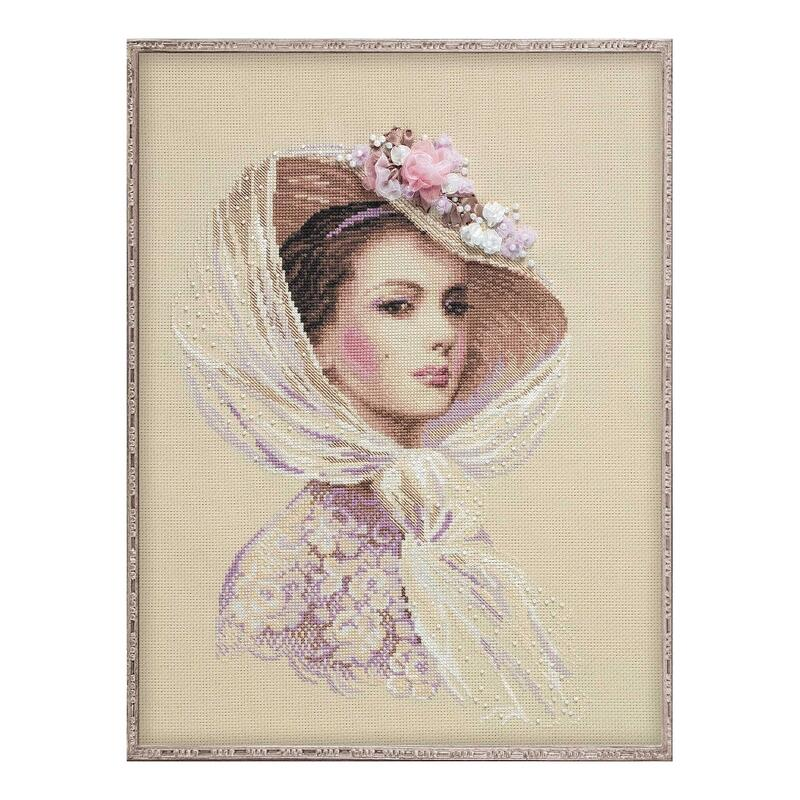 RIOLISクロスステッチ刺繍キット No.100/028 「Lilac Evening」 (ライラック イブニング) 【海外取り寄せ/納期30~60日程度】