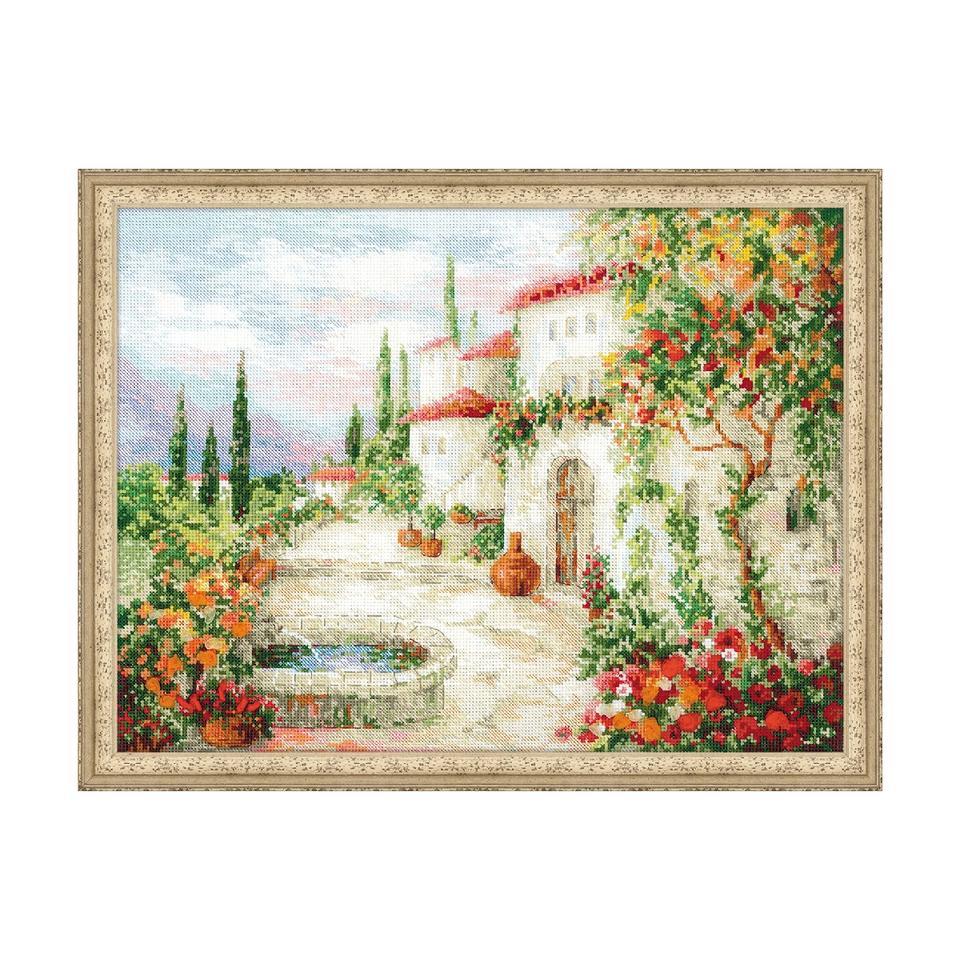 RIOLISクロスステッチ刺繍キット No.1472 「At the Fountain」 (泉にて) 【海外取り寄せ/納期30~60日程度】